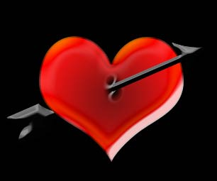 a heart with arrow